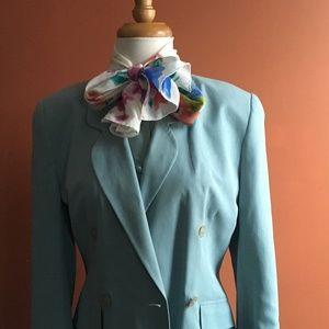 VINTAGE LAURA ASHLEY 3 Piece Skirt Set Blue S